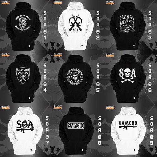 sudaderas sons of anarchy - 18 modelos disp envio incluido!!