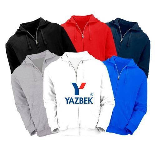 sudaderas yazbek unisex con cierre para estampar o bordar