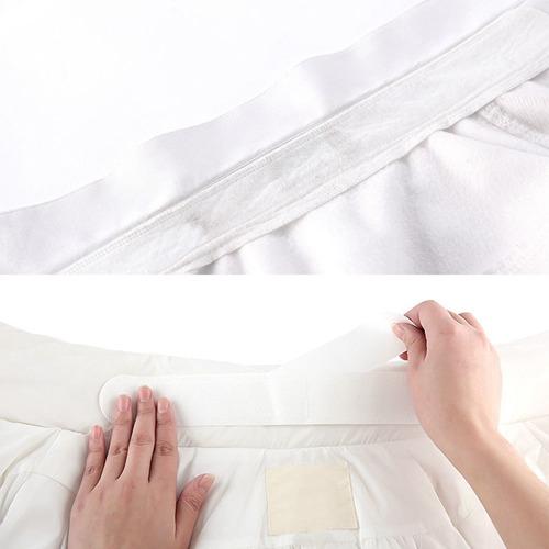 sudor cuello camisa uniforme blanco desechable unisex 6x pz