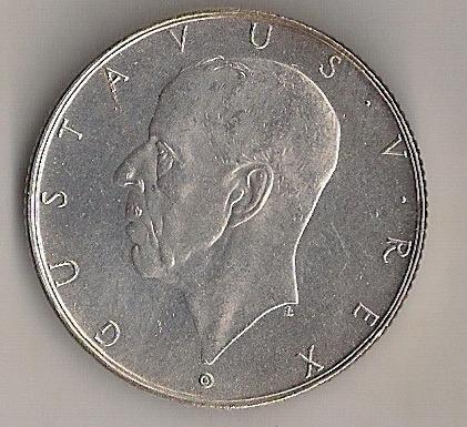 suécia, 2 krone de prata, 1938, comemorativa, unc!