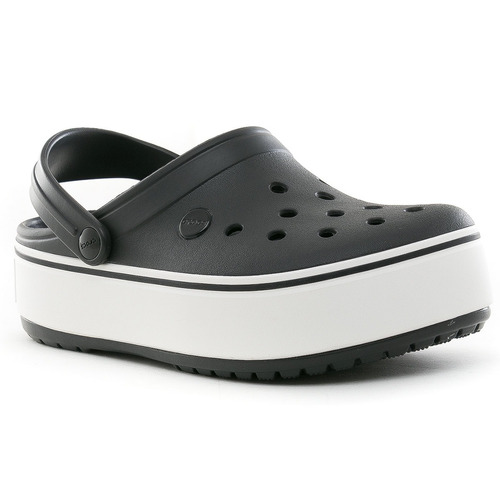 suecos crocband platforma black crocs
