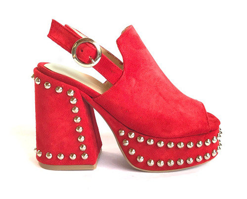 suecos gamuza tachas cuero zapatos mujer verano 2018