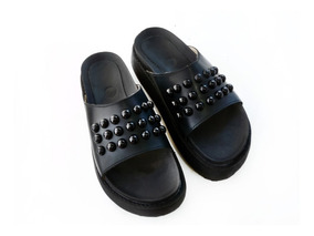 Sandalias Tachas Plataforma Mujer Perla Zapatos Cuero Suecos VpSUzMq
