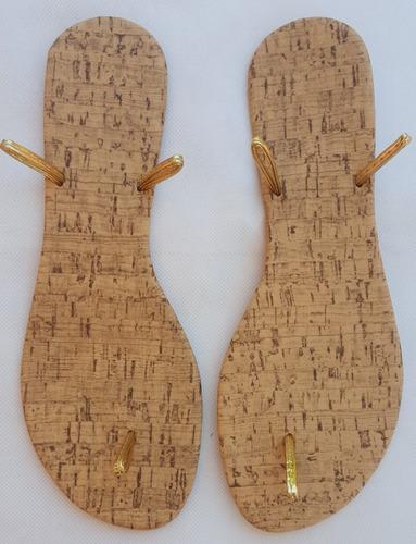 suela de piso sandalia huarache docena macrame