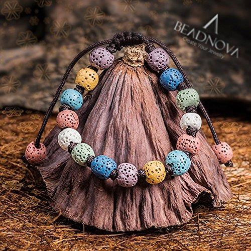 suelta perlas beadnova 6 mm color lava cuentas piedras prec