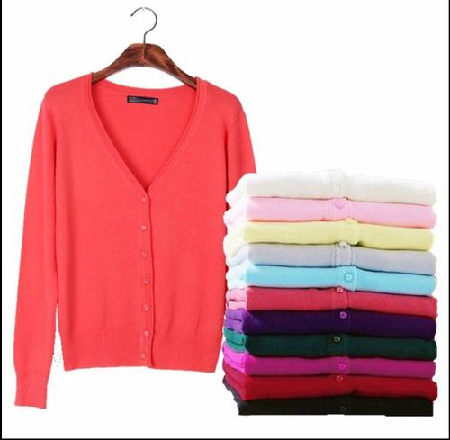 suéter abierto de botones  100 de mayoreo