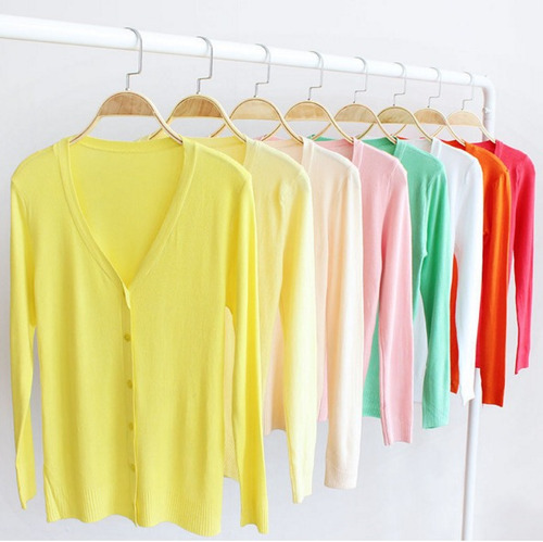 suéter abierto varios colores