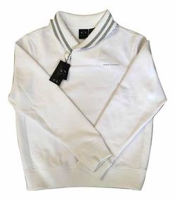 24908817c Suéter Armani Exchange Ax Blanco Hombre Algodón Moda