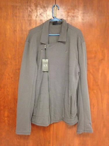 suéter armani exchange para caballero color gris talla l/g