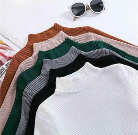 a00921977 Sueter Body Camisa Acanalado Moda Rib Para Damas