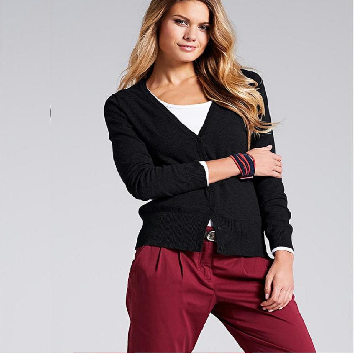 b02668947a sueter cardigã blusa camisa feminina cardigan tricot 2548. Carregando zoom.