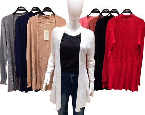 sueter cardiga blusa camisa feminina cardigan tricot 2763