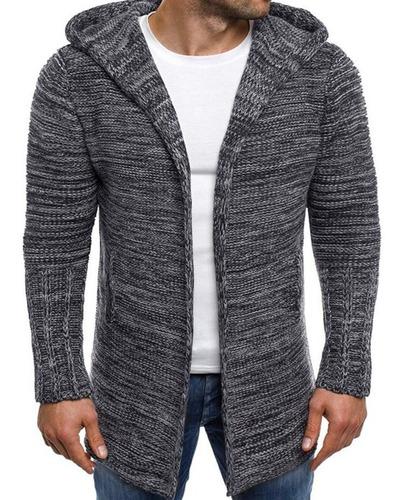 suéter cardigan largo de hombres stylo causual