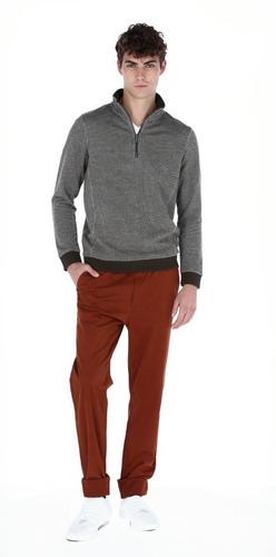 suéter casual para hombre jaspe en 2 tonos  generra 828851
