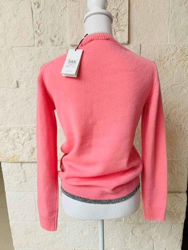 suéter coach 100% original blanca nieves