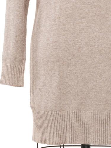 suéter con capucha tejido de punto fino, largo, abrigo.