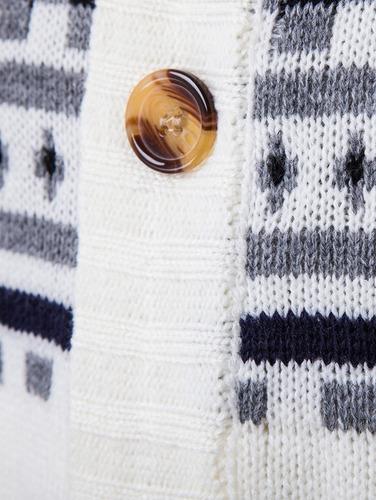 suéter con diseño geométrico manga larga
