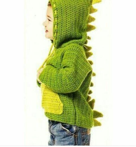 Sueter Crochet Con Gorro Hoddie Dinosaurio 1-3 Años -   350.00 en ... 198528d84ce