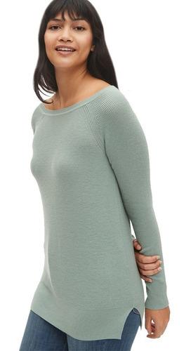 sueter dama largo mujer cuello v tipo jersey 440962 gap