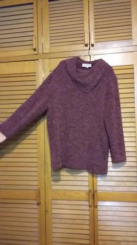 sueter de acrilan lana poliester dama talla grande.