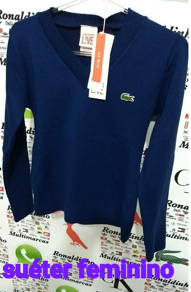 16ec555e417d2 suéter feminino lacoste. Carregando zoom.