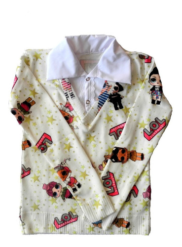 sueter infantil estampa boneca surpresa agasalho blusa frio lol tamanho 6 anos