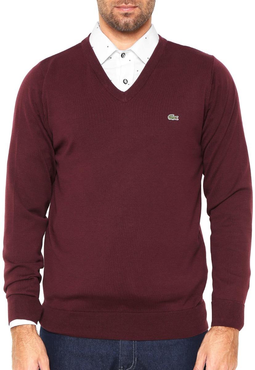 f963c491653cf suéter lacoste masculino de lá pronta entrega. Carregando zoom.