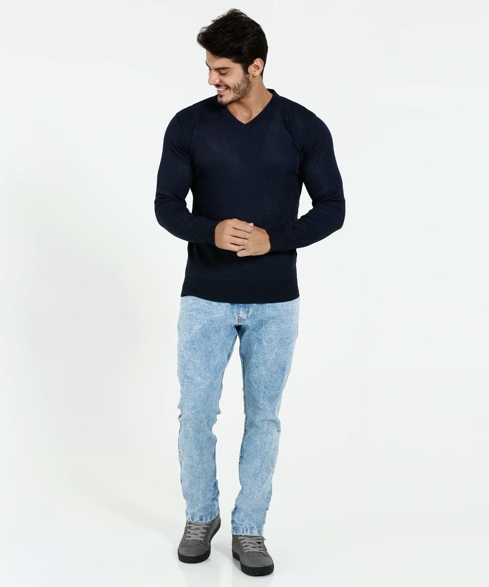 8e2a135152 suéter masculino gola v manga longa -tam p. Carregando zoom.