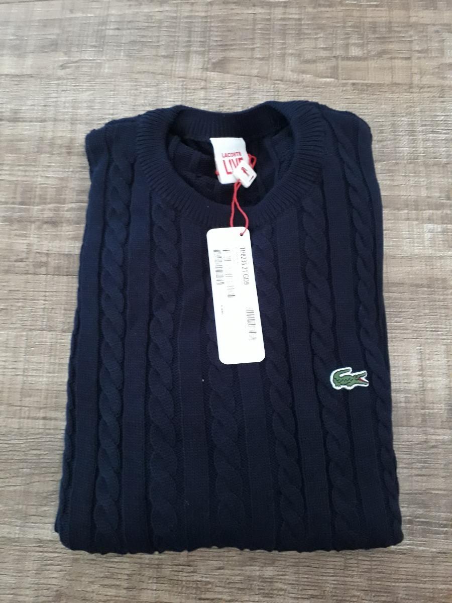 7a0ca28da19 sueter moletom casaco lacoste original. Carregando zoom.