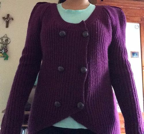 suéter morado para dama (envió incluido)