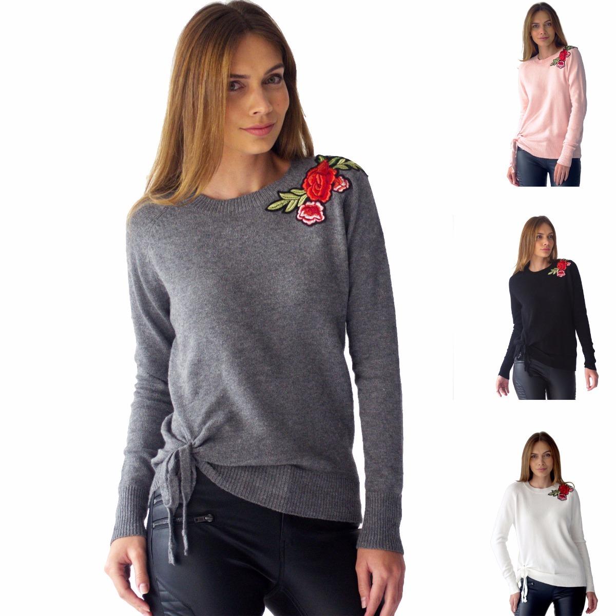 Suéter Mujer Detalle Flores Bordadas Rack & Pack - $ 719