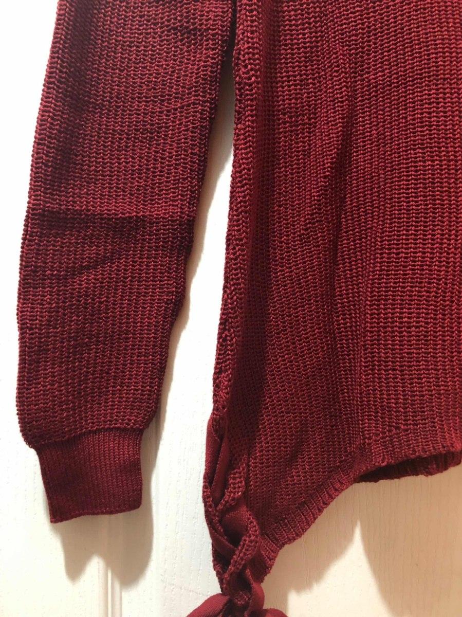 suéter para dama color vino moderno con cintas sueter moda. Cargando zoom. 60abb64d6195