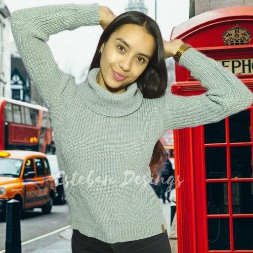 suéter para dama punto inglés fantasía