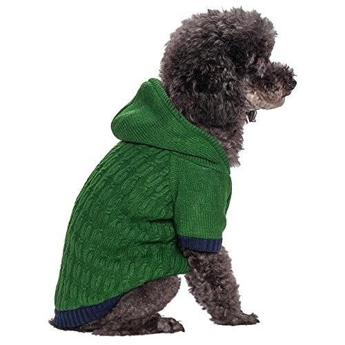 suéter para perro giro blueberry pet cable de punto fleece