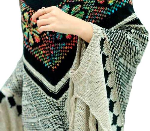 sueter poncho capa cardigan pullover mujer dama envio gratis