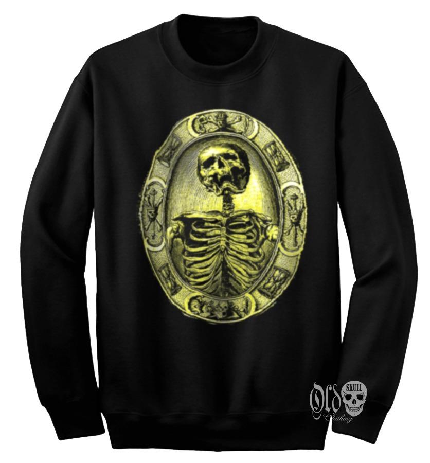 Hombre Camafeo Sudadera Goth Esqueleto Calavera Sueter shBdxQrtC