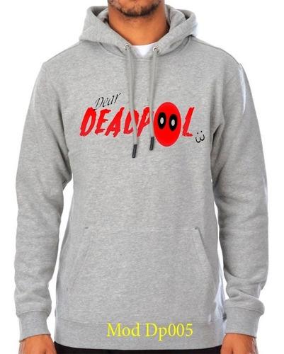 sueter sweater deadpool con capucha caballeros y damas