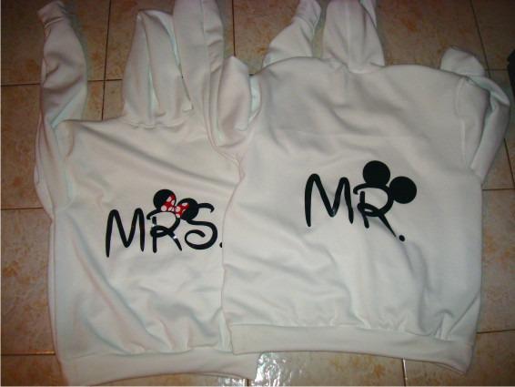Sueter Sweater Mrs Mr Mickey Parejas Enamora Personalizados - Bs ... 9489222e6260a