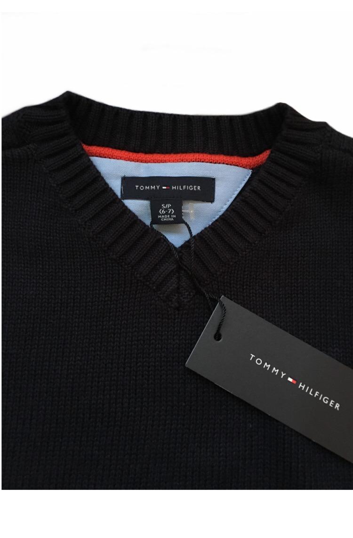 2ccdaae66b2 suéter tommy hilfiger niño envío gratis azul marino cuello v. Cargando zoom.