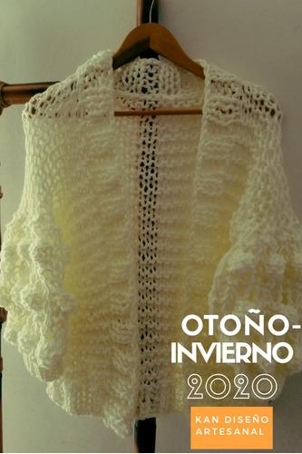 suéter y cardigan tejido a mano . kan diseño artesanal