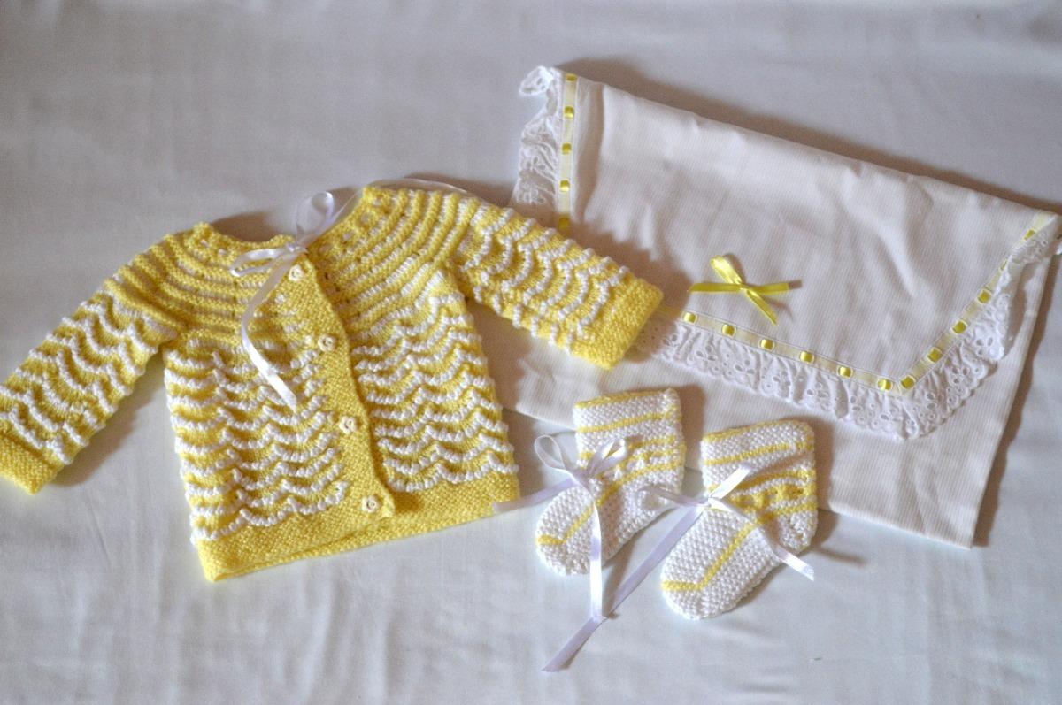 1ff05fb64 Suéter Y Escarpines Tejidos Para Bebes Recién Nacidos - Bs. 80,00 en ...