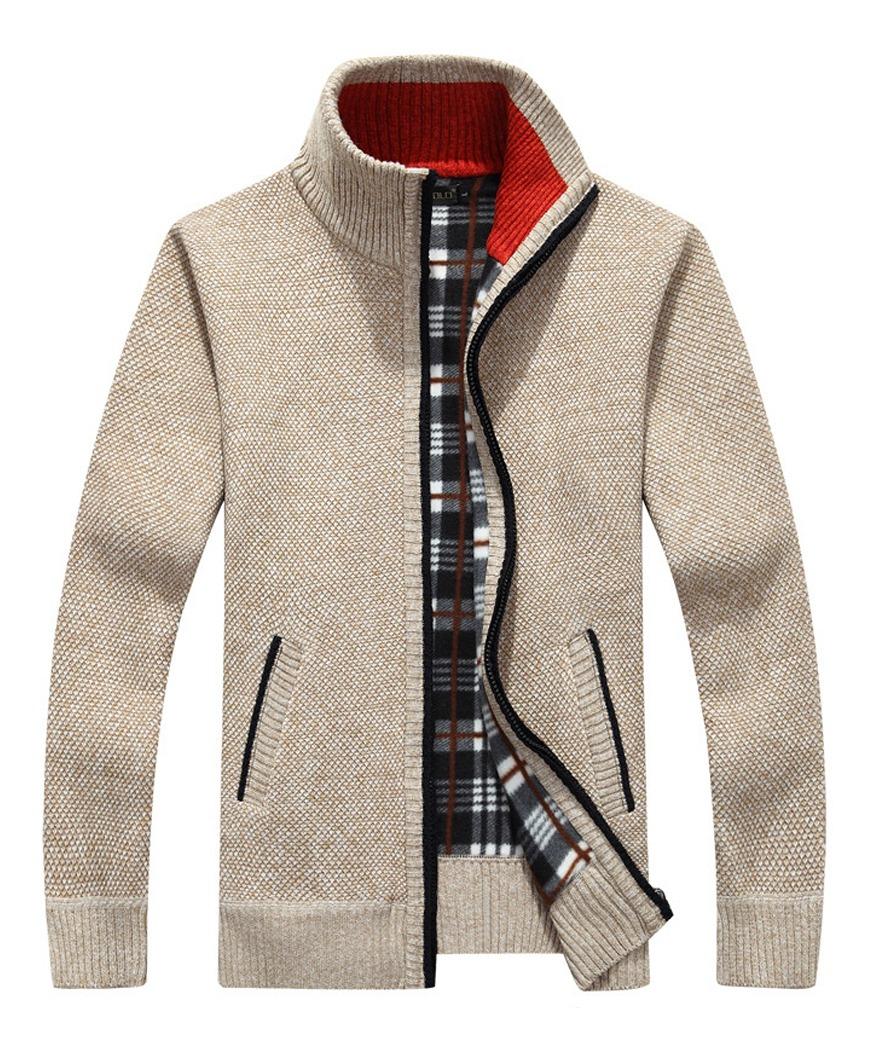 Suéteres De Punto Cardigan De Punto Grueso Para Hombres