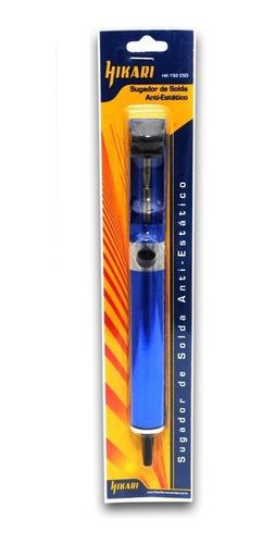 sugador de solda hikari metal azul hk-192 anti estático