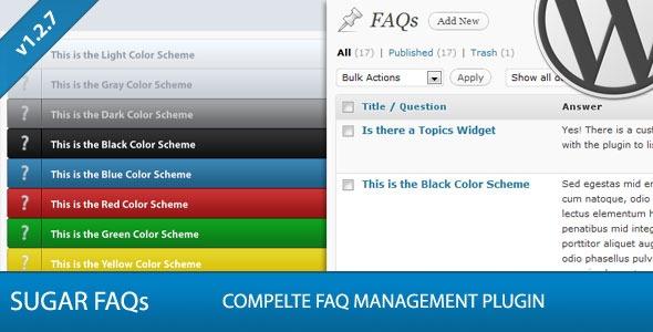 sugar faqs v1.3.1 wordpress faq management plugin