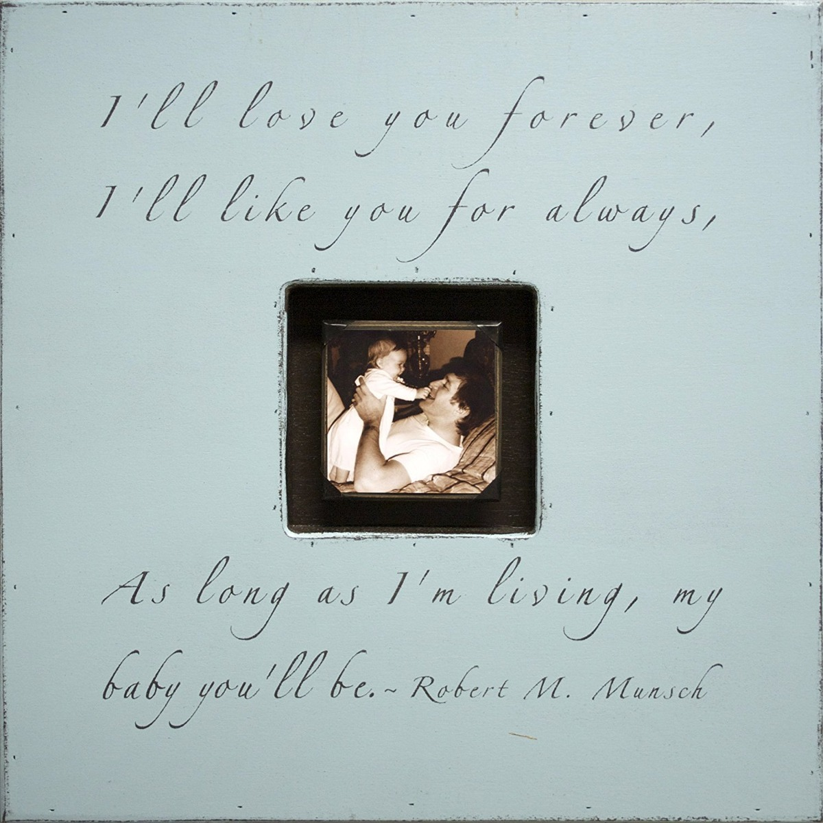Sugarboo Designs Photobox Frame, I\'ll Love You Forever, Turq ...
