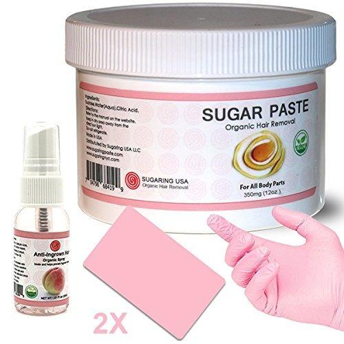sugaring orgánico waxing kit tarro azúcar 12 oz solución el