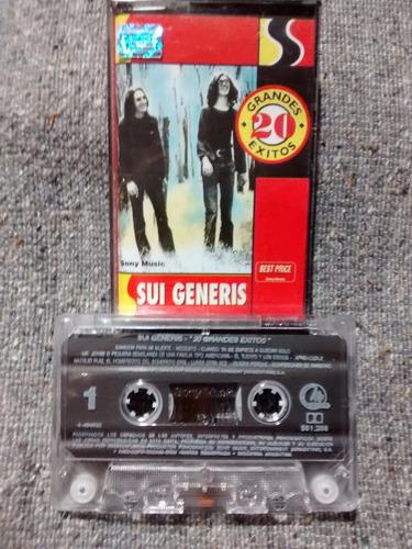 sui generis 20 grandes exitos cassette