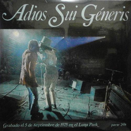 sui generis adios sui generis ii lp vinilo nuevo