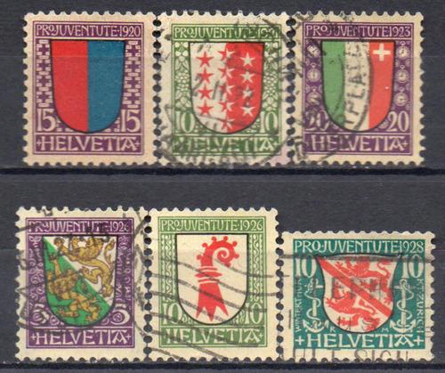 suíça - brasão de armas - 1920 a 1928