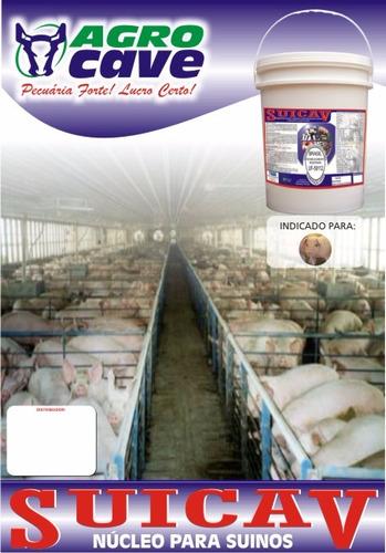 suicav - núcleo p/ suínos 21kg 309,99 frete gratis + brinde